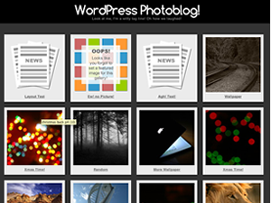 Wordpress theme Photographic