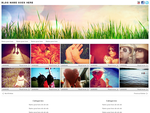 Wordpress theme Photologger