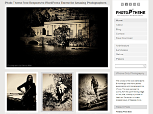 Wordpress theme Photo Theme Responsive