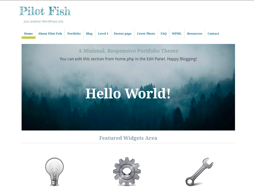 Wordpress theme Pilot Fish