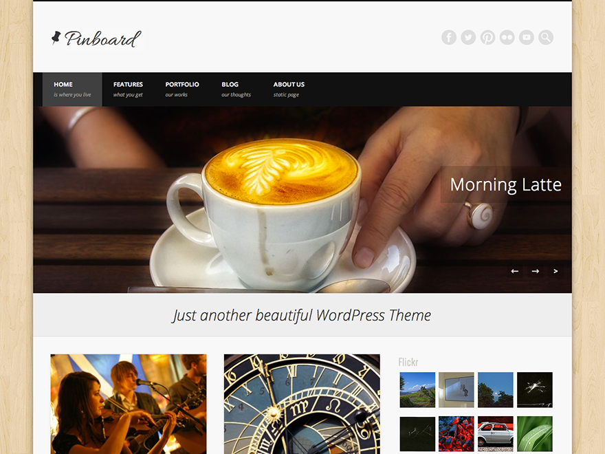 Wordpress theme Pinboard
