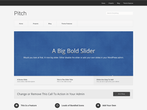 Wordpress theme Pitch