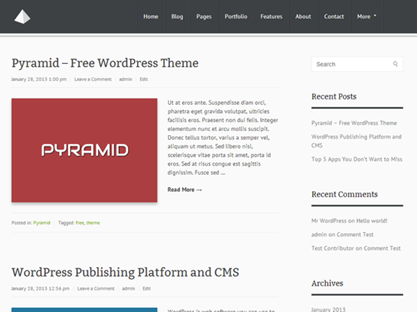Wordpress theme Pyramid