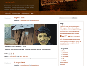Wordpress theme Rembrandt
