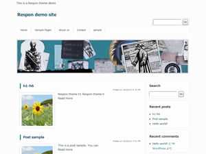 Wordpress theme Respon