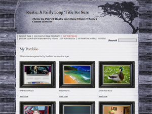 Wordpress theme Rustic