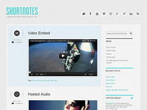 Wordpress theme Shortnotes