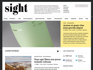 Wordpress theme Sight