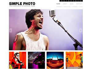 Wordpress theme Simple Photo Responsive