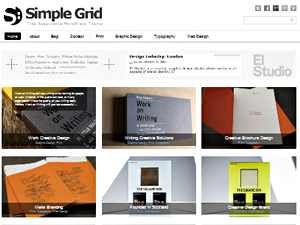 Wordpress theme Simple Grid Theme Responsive