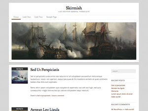 Wordpress theme Skirmish