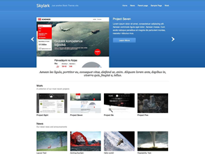 Wordpress theme Skylark