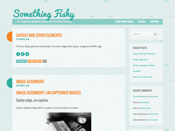 Wordpress theme Something Fishy