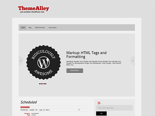 Wordpress theme Spartan