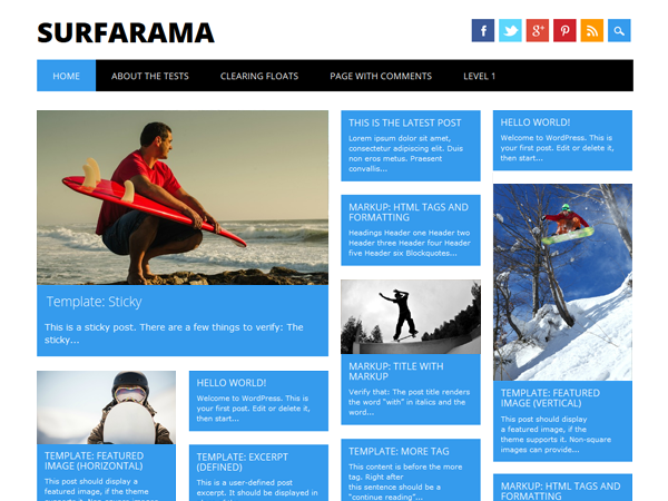 Wordpress theme Surfarama
