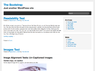 Wordpress theme The Bootstrap