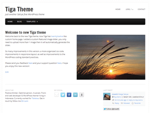 Wordpress theme Tiga