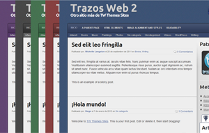 Wordpress theme Trazos Web