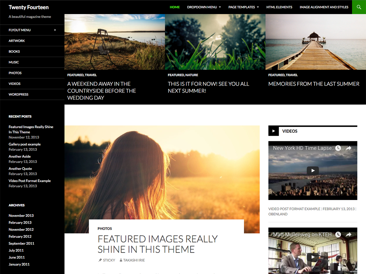 Wordpress theme Twenty Fourteen