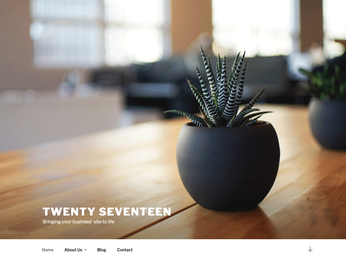 Wordpress theme Twenty Seventeen