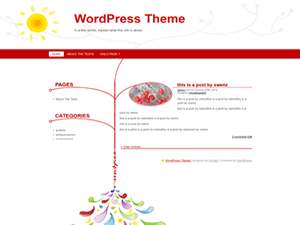 Wordpress theme WarmWinter