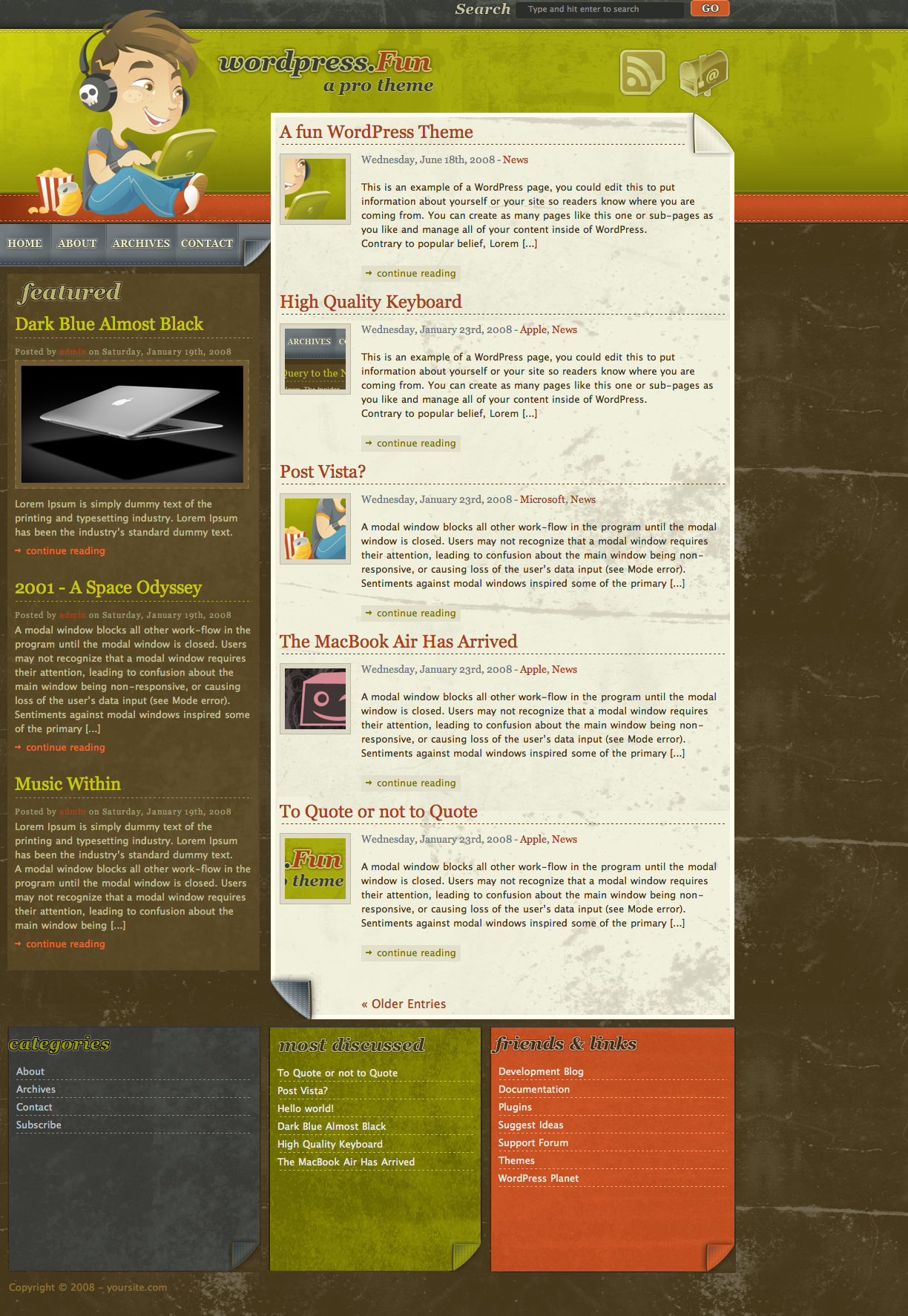 Wordpress theme wordpressfun