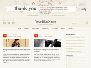 Wordpress theme WordPress Anniversary