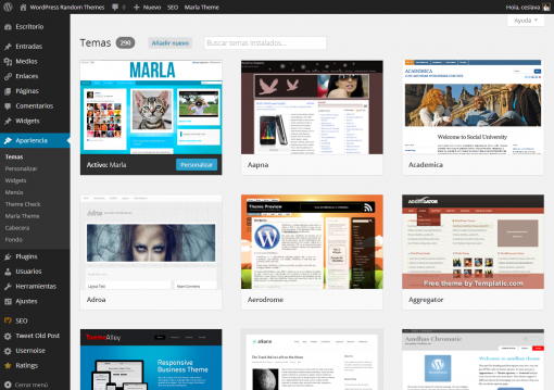 WordPress 3.8 - Temas